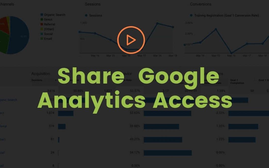 Share Google Analytics Access