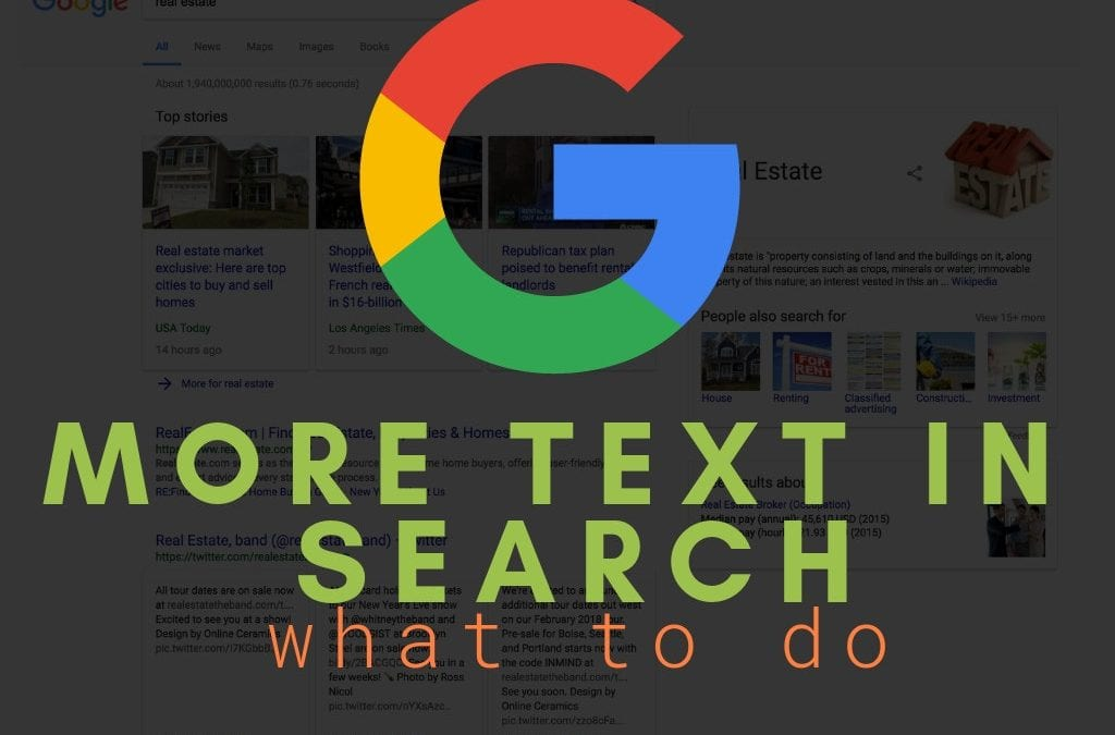 SEO Google's Text in Search