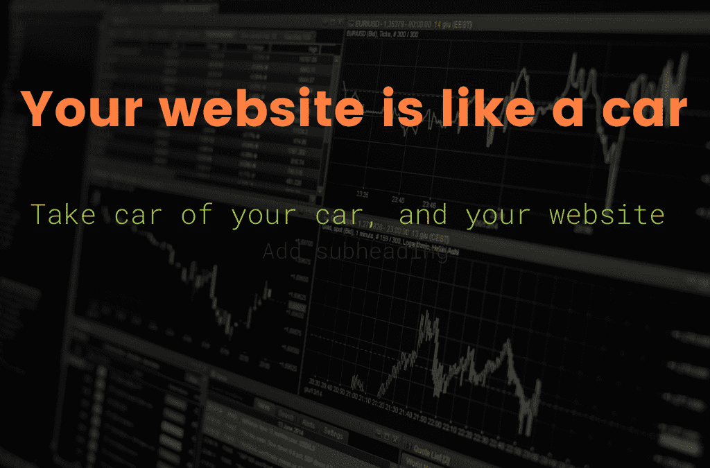 Your website is like a car