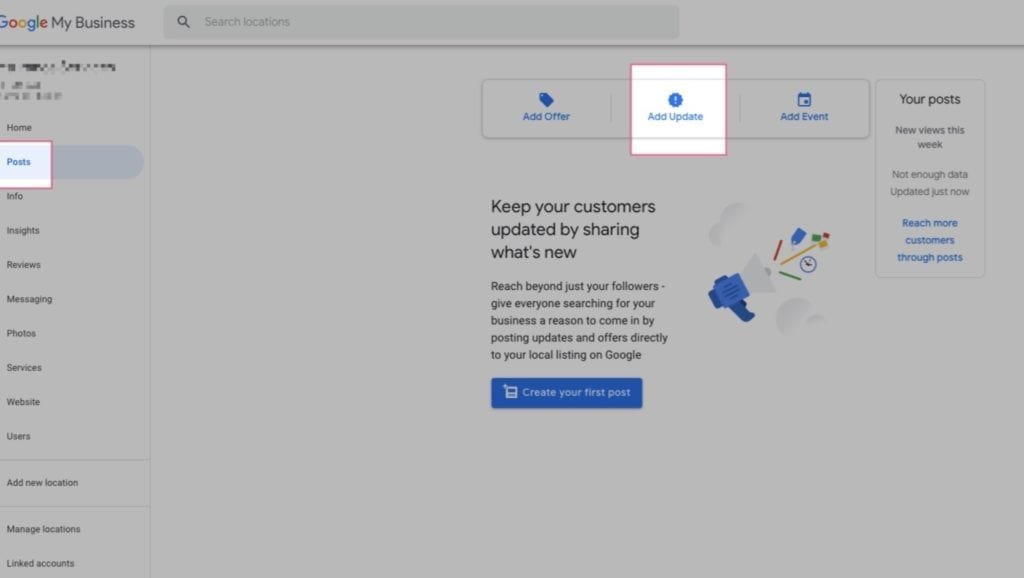 google my business covid 19 how to post update