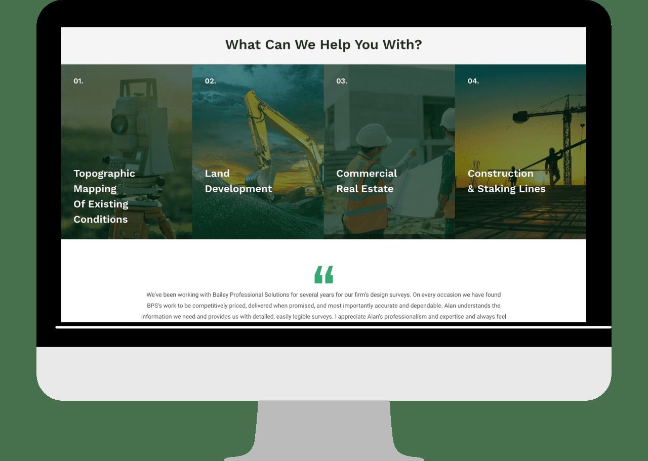 contractor land surveying desktop new website