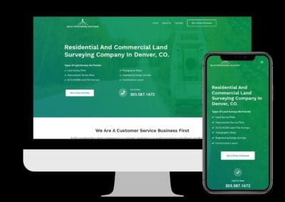 Land Surveying Company Website Design & Development
