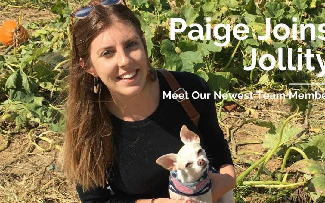 Paige Joins the Jollity Team